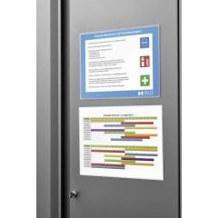 Tasca magnetica per documenti Trasparente, Bianco DIN A4