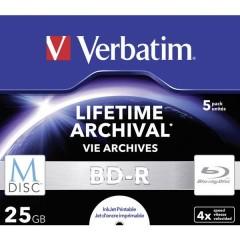 M-DISC Blu-ray vergine 25 GB 5 pz. Jewel case stampabile