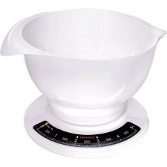 Culina Pro Bilancia da cucina analogica, con contenitore di misurazione Portata max.=5 kg Bianco