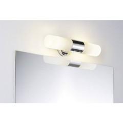 Lenia Lampada da parete per bagno LED (monocolore), Lampadina Alogena E14 40 W Cromo