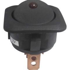 Interruttore a bilanciere per auto TC-R13-203L-SQ RED 12 V/DC 12 V/DC 25 A 1 x Off / On Permanente 1 pz.