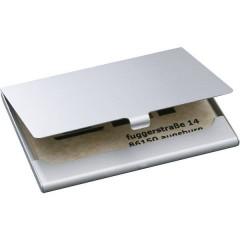 Custodia porta biglietti da visita 15 Schede (L x A x P) 92 x 63 x 5 mm Argento (opaco) Alluminio