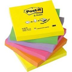 Nota adesiva, memo 76 mm x 76 mm Giallo Neon , Verde Neon, Rosa neon, Lilla neon, Arancione Neon 600