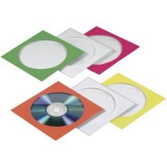 Busta per CD 1 CD/DVD/Blu-Ray Carta Rosso, Verde, Blu, Arancione, Giallo 100 pz. (L x A x P) 125 x 125 x 1 mm