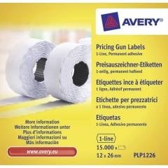 Etichetta per prezzo Permanente Larghezza etichette: 26 mm Altezza etichette: 12 mm Bianco 15000