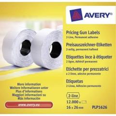 Etichetta per prezzo Permanente Larghezza etichette: 26 mm Altezza etichette: 16 mm Bianco 12000