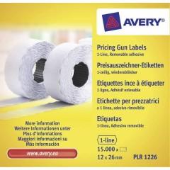 Etichetta per prezzo Staccabile Larghezza etichette: 26 mm Altezza etichette: 12 mm Bianco 15000