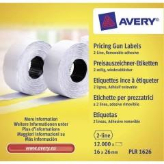 Etichetta per prezzo Staccabile Larghezza etichette: 26 mm Altezza etichette: 16 mm Bianco 12000