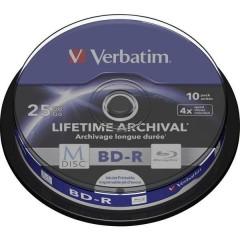 M-DISC Blu-ray vergine 25 GB 10 pz. Torre stampabile