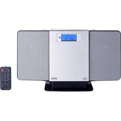 SMV 600 USB Sistema stereo CD, FM, USB, 2 x 5 W Argento