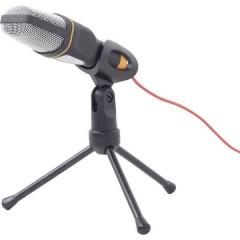 MIC-D-03 Microfono per PC Nero Cablato incl. stativo