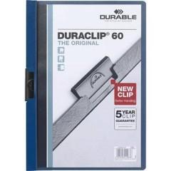 Cartellina con clip DURACLIP 60 - 2209 DIN A4 Blu scuro