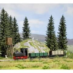 Locomotiva scartamento ridotto H0f Decauville tipo 3