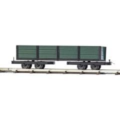 Per ferrovia da cantiere H0f carrello a pianale Con sponde