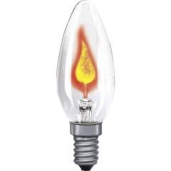 Lampada ad incandescenza Classe energetica: E (A++ - E) 97 mm 230 V E14 3 W Trasparente Forma di candela