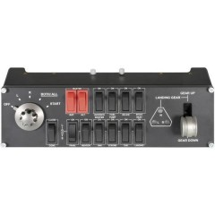 Saitek Pro Flight Switch Panel PZ55 Controllore per simulatore di volo USB PC Nero