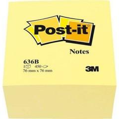 Cubo note adesive 76 mm x 45 mm Giallo 450 Foglio