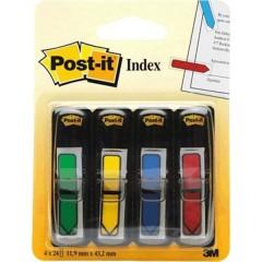 Marcatore adesivo 4 Blocchi/Conf Rosso, Giallo, Verde, Blu