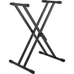 Supporto tastiera Nero supporto doppio, regolabile in altezza