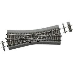 H0 Line (con massicciata) Scambio incrocio, singolo 230 mm 15 ° 531 mm