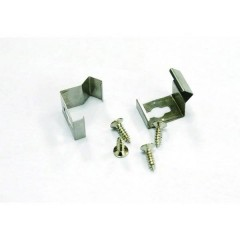 LEDconnect Clip di montaggio (90°) Kit da 2 acciaio inox