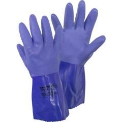 660 Gr. L Tessuto di cotone, PVC Guanto di protezione per prodotti chimici Taglia: 9, L EN 388 , EN 374-2 ,