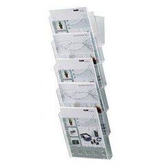 Porta depliant Trasparente DIN A4 Numero scomparti 5 1 pz. (L x A x P) 241 x 578 x 150 mm