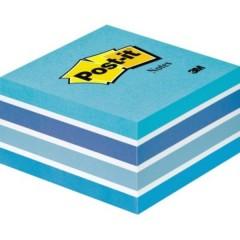 Cubo note adesive 76 mm x 45 mm Blu pastello 450 Foglio