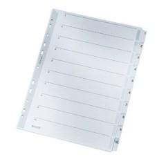 4324 Divisore DIN A4 1-10 Cartone Grigio 10 schede