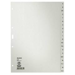 4300 Divisore DIN A4 A-Z Carta in fibra di qualità Grigio 20 schede