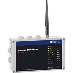 HT200E Ricevitore senza fili 8 canali Frequenza 868.35 MHz, 869.05 MHz, 869.55 MHz 12 V Raggio di azione Max.