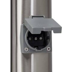 Chorus Lampada da terra per esterni Lampada a risparmio energetico E27 20 W acciaio inox