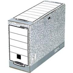 Scatola per archivio 111 mm x 265 mm x 327 mm Cartone Grigio, Bianco 1 pz.