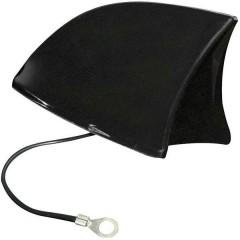 Antenna a pinna di squalo per auto Plastica Nero (L x A x P) 115 x 75 x 65 mm