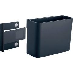 Portapenne con clip magnetica (L x A x P) 120 x 94 x 51 mm Antracite