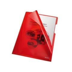 Busta trasparente a L DIN A4 PVC 0.15 mm Rosso (trasparente) 100 pz.