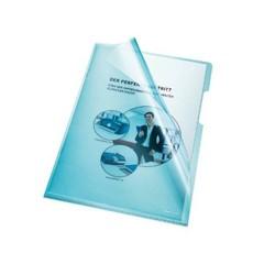 Busta trasparente a L DIN A4 PVC 0.15 mm Blu (chiaro) 100 pz.
