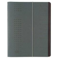 chic Cartellina con divisori Grigio DIN A4 Cartone Numero scomparti: 12