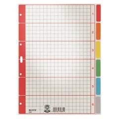 4350 Divisore DIN A4 blank Cartone Grigio 6 schede