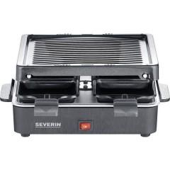 2370 Raclette Rivestimento antiaderente, 4 vaschette, Funzione grill Nero