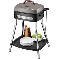Barbecue Power Grill Elettrico Brabecue grill con supporto Con regolazione manuale della temperatura Nero,