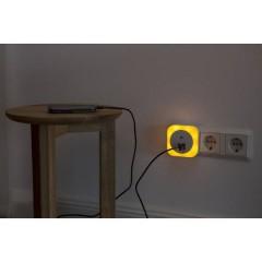 Sirius Luce notturna LED con sensore crepuscolare Quadrato LED (monocolore) Ambra Bianco