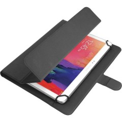 Custodia per tablet universale Adatto per dimensione display=25,7 cm (10,1) Custodia a libro Nero