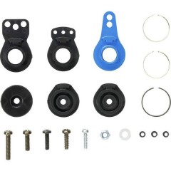 Parte tuning Kit servo saver con squadrette in alluminio TT-02 Hi-Torque