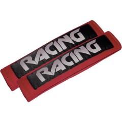 Racing red Imbottitura copri cintura di sicurezza 22 mm x 7 cm x 3 cm