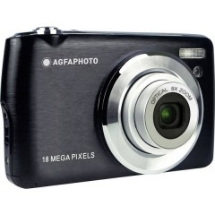 Fotocamera digitale 18 MPixel Zoom ottico: 8 x Nero incl. Batteria, incl. Custodia
