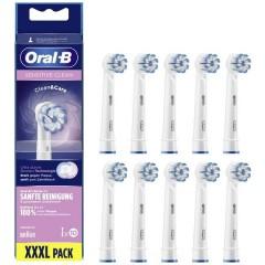 Sensitive Clean Testine per spazzolino da denti elettrico 10 pz. Bianco