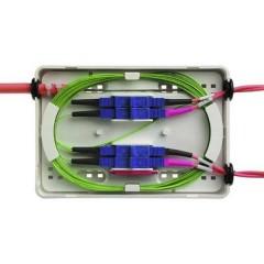 Scatola di giunzione per fibra ottica senza connettori