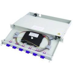 Patchpanel per fibra ottica 6 Porte ST 1 U