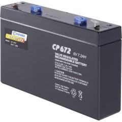 CE6V/7Ah Batteria al piombo 6 V 7 Ah Piombo-AGM (L x A x P) 151 x 94 x 34 mm Spina piatta 4,8 mm
